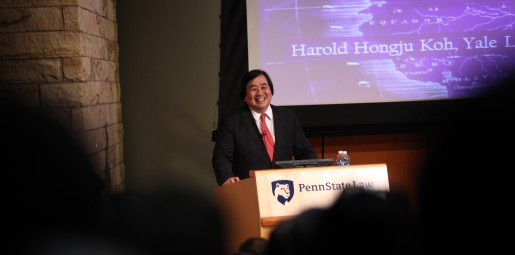 Harold Koh speaking at CSRE